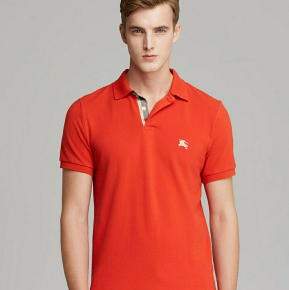 44c1c02d3 Burberry Shirts | Brit Mens Xl Polo Shirt Orange | Poshmark